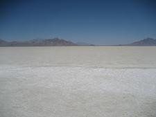 Bonneville Salt Flats At Midday In Summer
