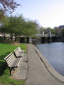 Boston Public Garden At Emerald Necklace