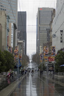 Bourke Street Mall Between Swanston Street And Elizabeth Street