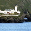 Bressay Lighthouse At Kirkabister Ness Overlooking Bressay Sound