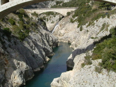 A Bridge And Aqueduct Over The Herault River