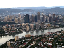 Brisbane Lies On The Southern Slopes Of The Range