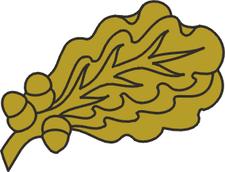 Bronze Oak Leaf Cluster