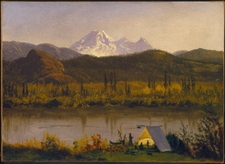 Mount Baker From The Frazier River