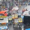 Busy Street At Naga