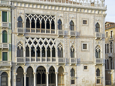 Ca' D'Oro Façade Overlooking The Grand Canal