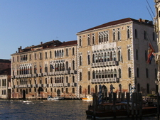 Cà Foscari (right) And Palazzo Giustinian