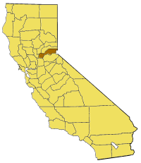 California Map Showing  Placer  County