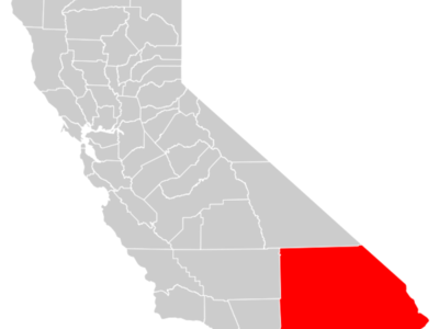 California County Map  Inland  Empire Highlighted