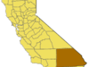 California Map Showing  San  Bernardino  County