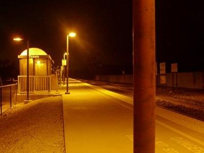 Caltrain Platform San Martin
