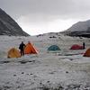 Camp Along Huayhuash Circuit Trek In Andes Peru