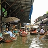Canal View With Floating Market