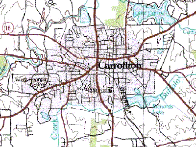 Carrollton  2 C Georgia   Topo