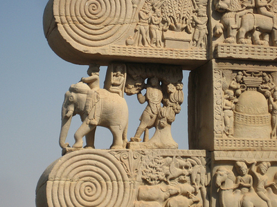 Carvings At Sanchi Temple