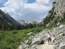 Cascade Canyon Trail At Grand Tetons - Wyoming - USA
