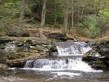 Cascades Along Waterfall Trail - Ricketts Glen State Park PA