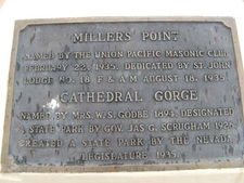 Cathederal Gorge Plaque