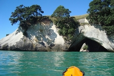 Cathedral Cove From Sea Kayak - North Island NZ