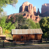 Cathedral Rock With Crescent Moons Historic Building