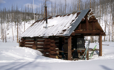 CCPCabin At Yellowstone In Winter