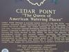 Cedar Point Historic  Marker