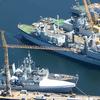 Warships Docked At CFB Esquimalt
