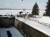 Chambly Lock Viewed In Winter
