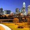 Charlotte Downtown NC - View At Night