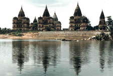 Chhatris On The Bank Of The Betwa River, Orchha
