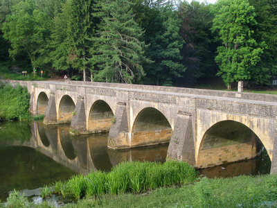 Chiny St Nicholass Bridge On The River Semois