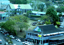 Church & School Yard In Roseau Dominica