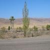 Chu River Valley Watchtower From Northern Bishkek-Tokmak-Kemin Hwy