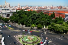 Cibeles Fountain & Square With Madrid