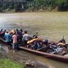 A River Boat At Cikaso River