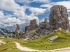Cinque Torri Hiking Trail In Dolomites