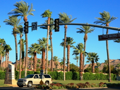 City Limit As Seen From Palm Desert California