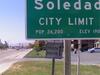 City Limit Sign Seen As Entering Into Soledad