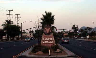 City Of Rancho Mirage Welcome Sign