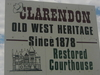 Clarendon Welcome Sign