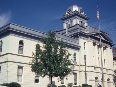 Cleburne County Courthouse In Heflin