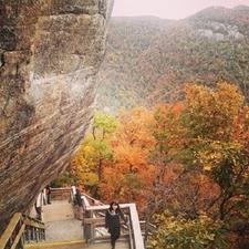 Climbing Chimney Rock - North Carolina