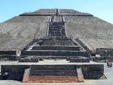 Climbing Pyramid Of The Sun In Teotihuacan