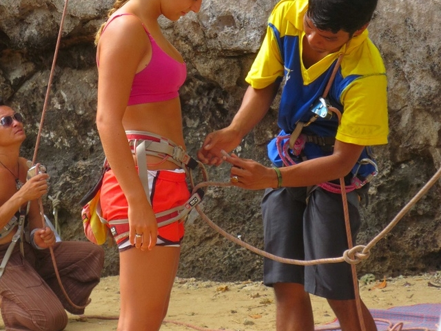 1/2 Day Rock Climbing Tours At Railay Beach,Krabi Photos