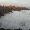 Clouds Covering A Part Of The Caldera