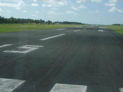 Cocos Islands Airport Runway