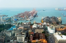Colombo Harbor From WTC