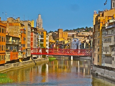 Colorfull Girona Town - Spain Catalonia