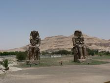 Colossi Of Memnon Landscape In Luxor