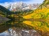 CO Maroon Bells - Lake & Peak
